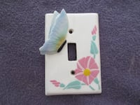 Brand New Handcrafted Hand Painted Ceramic Light Switch Cover