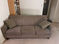 gray fabric 3-seat sofa Winnipeg, R3C 1N7