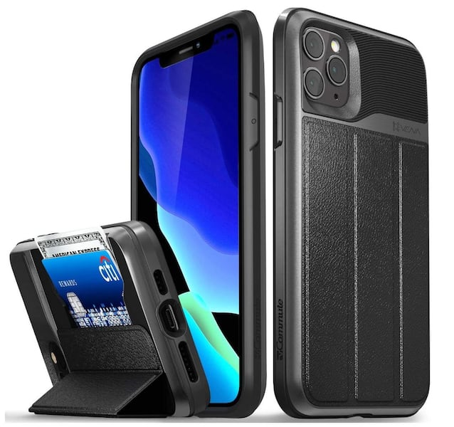 iPhone 11 Pro Max Wallet Case, vCommute (Military Grade Drop Protection) Flip Leather Cover Card Slot Holder with Kickstand cd057575-1cf4-43e5-bc47-efba414c690e