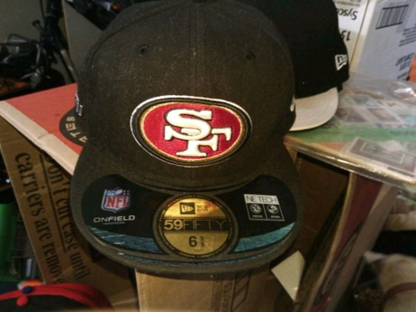 6e64cf09 black and red San Francisco 49ers fitted cap