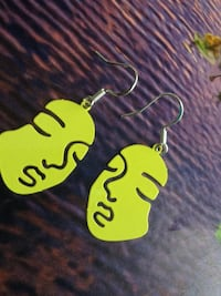 Abstract human face earrings made with 925 S silver hooks A variety of colours available!