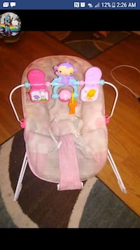 baby's pink and white bouncer Boone, 50036