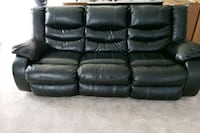 black leather 3-seat sofa Odenton, 21113