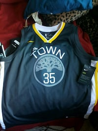 Large Men's Warriors Jersey Kevin Durant