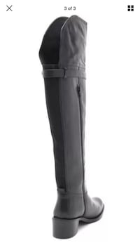Black Leather Over the Knee Tall Boots Size 8.5 2242 mi