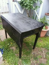 black  small wooden table with drawer Beaver Falls, 15010