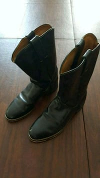 Tony Lama black leather cowboy boots Vienna, 22182