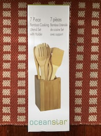 Ocean Star 7 piece bamboo cooking utensil set with Burnaby, V5E 3B6