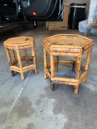 2 Stackable Bamboo wicker stools Los Angeles, 90048