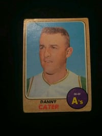 1968 Topps Baseball Card 535 Oakland Athletics Danny Cater