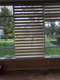 "Cream roller Blinds. Open and closed.4 blinds 92""x 49.5"" each. 2 pieces 92""x39"" each. Perfect condition.  Toronto, M6B 1N1"