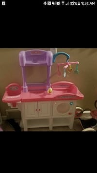 Baby changing play set