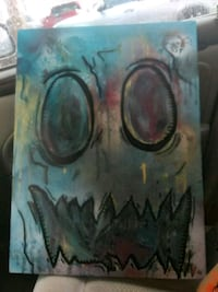 """Original painting """"face of forty"""" 28""""x24"""" 955 mi"""