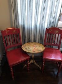 Pier 1 Imports Butterfly Motif Chairs and Small  Table  Norwood, 02062