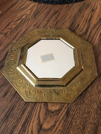 Gold antique mirror.