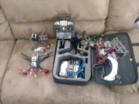 2 racing drones with 2 remotes and goggles drone 523 mi