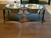 Metal Pet bowl stand double feeder cat dog stainle Charlotte, 28213
