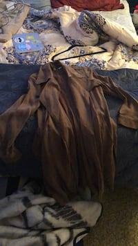 anthropologie suede trench coat  9 km