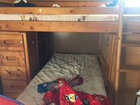 Bunk bed come with mattress and wardrobe
