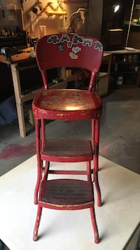 Vintage Chair with movable steps