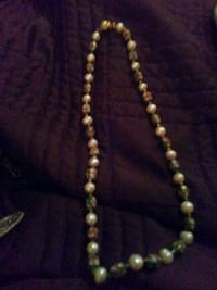 jewelry pearl hand beaded gold necklace ventage 995 mi