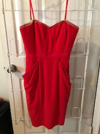 red scoop-neck sleeveless dress Reston, 20191