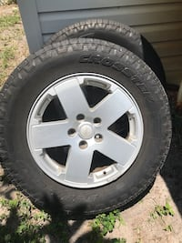 Set of 5 Jeep rims and tires Pompano Beach, 33064