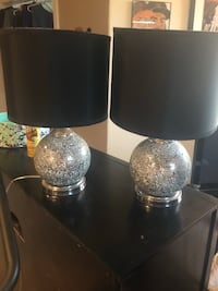 Two black-and-gray table lamps Reno, 89521