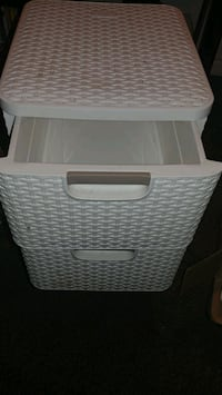 white plastic 3-drawer chest Las Vegas