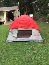 Three person tent, really good condition has zippers work ,no rips or tears Lusby