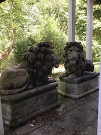 One of a kind rare Lion statues pair Haymarket, 20169
