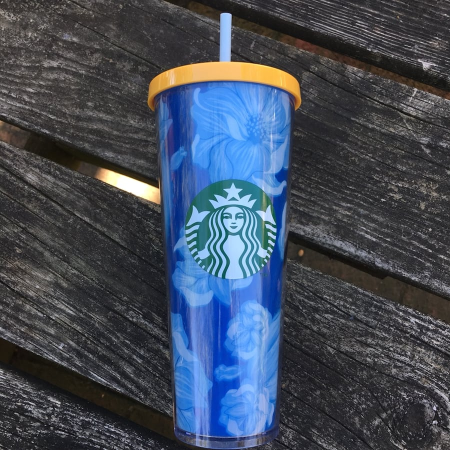 Blue Starbucks Tumbler-NEW