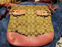 brown and pink coach monogram leather bag Minneapolis, 55428