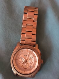Rouchronograph Fossil watch with link bracelet