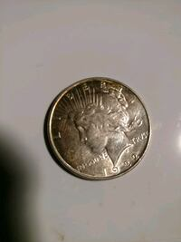 round silver-colored coin Foley, 36535