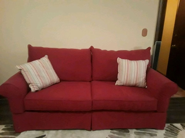 Miraculous Red Couch Evergreenethics Interior Chair Design Evergreenethicsorg