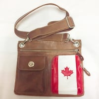 Roots Canadian flag crossbody bag Toronto, M5S 1H7