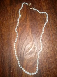 14k gold natural pearl necklace