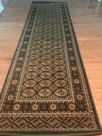new green Runner Carpet Rug Large Size 3x10 Persian Afghan Bokhara