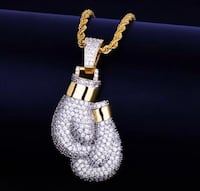 Boxing gloves pendant with chain Bedford, B4A 4C3