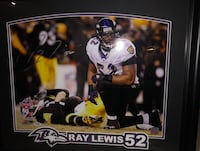 Ray Lewis Signed Print Baltimore, 21229