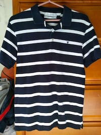 Zara Striped Navy Blue and White Polo T-Shirt Markham, L3T 3X9