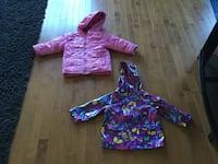 child's two purple and pink bubble hoodies