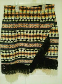 red, yellow, and black tribal print midi skirt Pierrefonds, H8Y