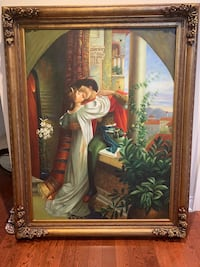An old painting of Romeo and Juliet 114 cm x147 cm
