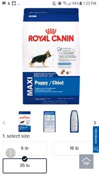 Royal canin 35lb unopened bag.  Kitchener, N2M 3V2