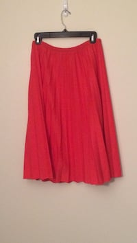 Women's coral pleated skirt Portage, 49024