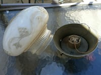 Antique Embossed And Frosted Light  Fixture Providence, 02904