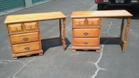 Matching Pair of Solid Maple  (3) Drawer Desk  Virginia Beach, 23455