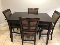 Expandable dining table with 8 chairs NSNP - regular wear and tear  Surrey, V4N 0V9